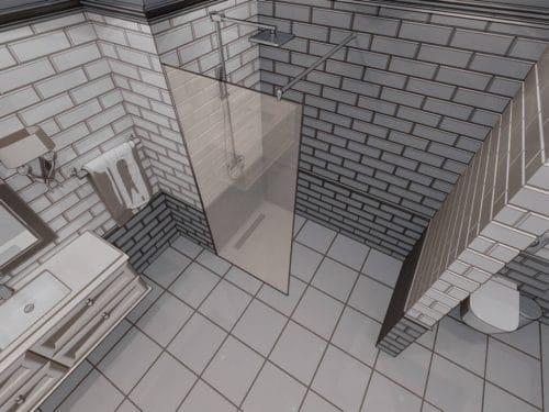 Параван за баня Miramar