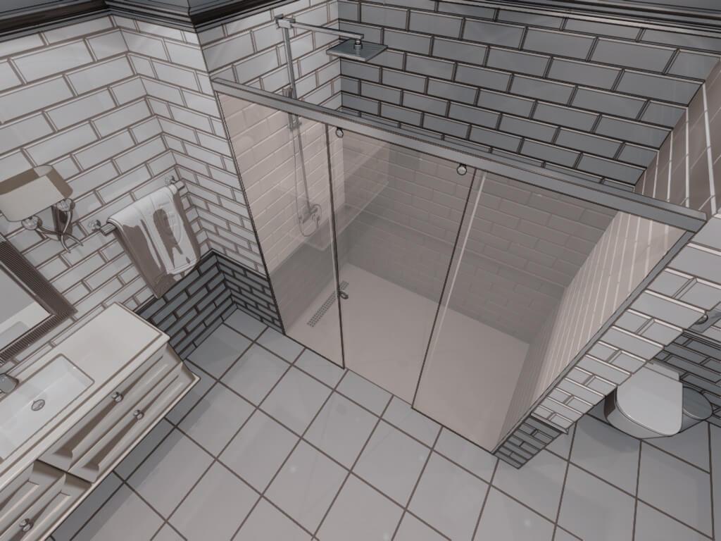 Параван за баня Bronx