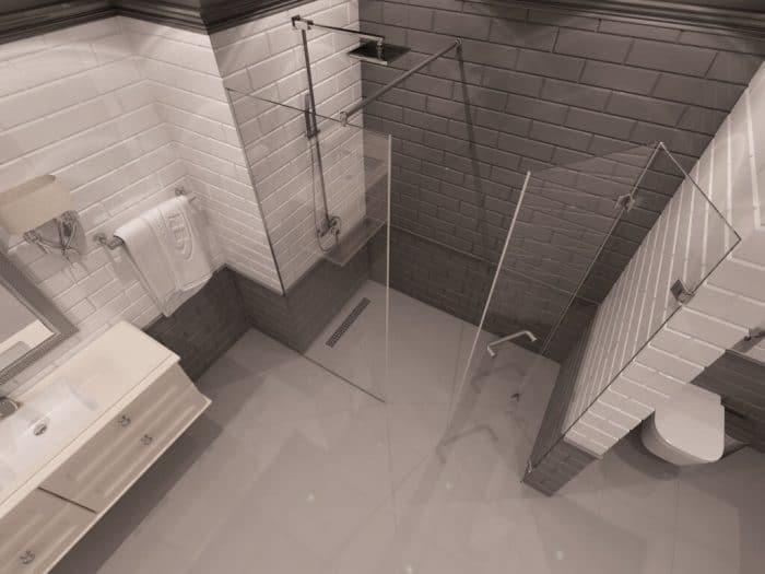 Параван за баня Detroit