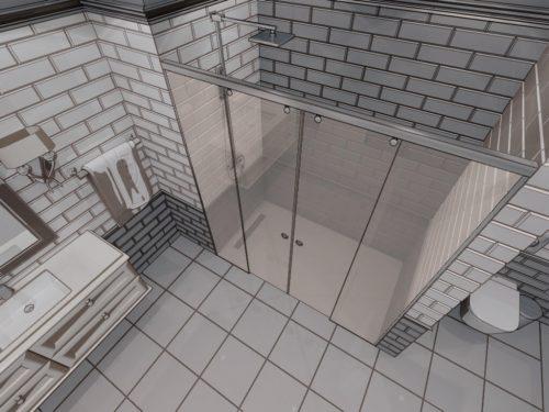 Параван за баня New York