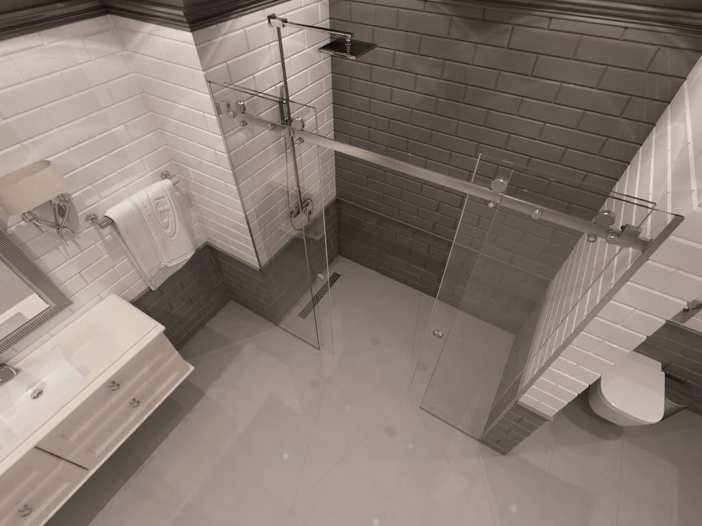 Параван за баня San Diego