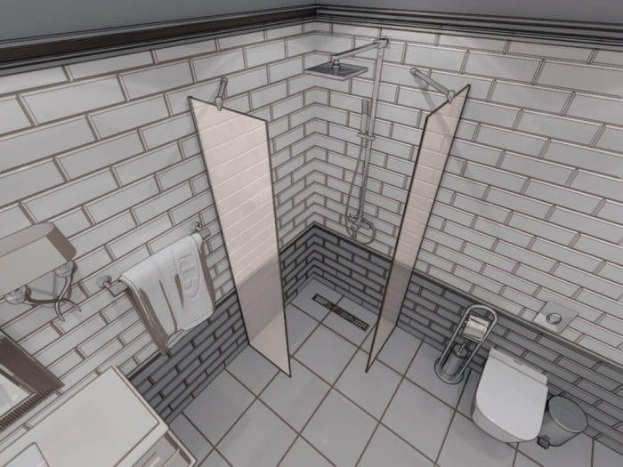 Параван за баня Simple