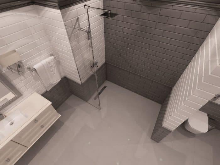 Параван за баня Texas с овал